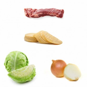 Biftek - Tortilla - Lahana - Soğan