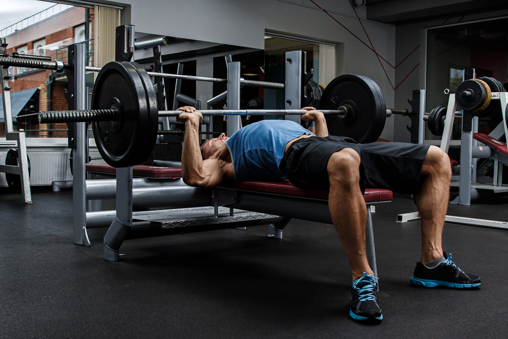 Smith Machine Elbows-Out Close-Grip Bench Press