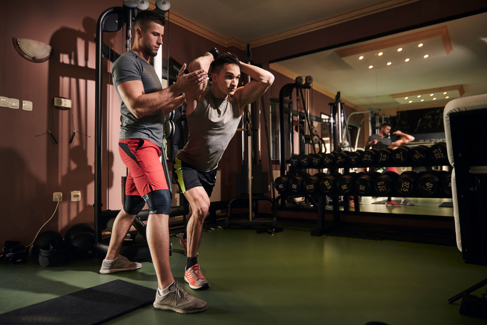 Standing Single-Arm Shoulder-High Triceps Extension